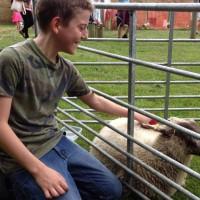 Looking sheepish!