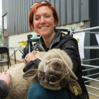 Director Emma with Upton our favourite sheep